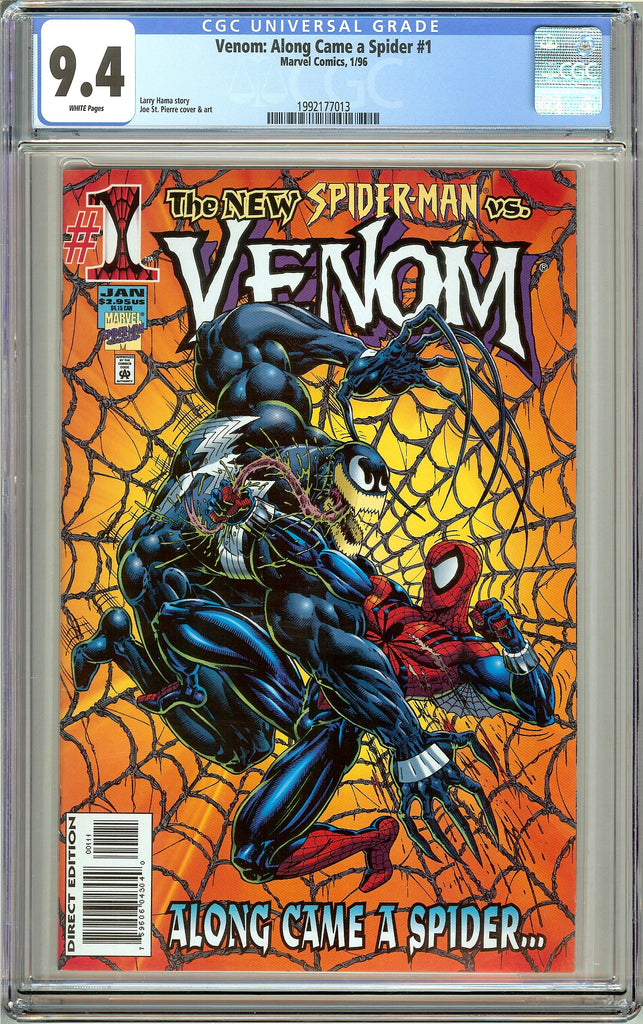 Venom: Along Came a Spider #1 CGC 9.4 White Pages (1996) 1992177013