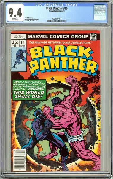 Black Panther #10 CGC 9.4 White Pages (1978) 1992177017