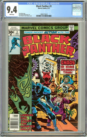 Black Panther #3 CGC 9.4 White Pages (1977) 1992177018