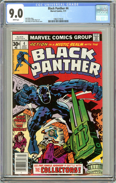 Black Panther #4 CGC 9.0 White Pages (1977) 1992177019