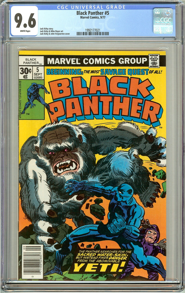 Black Panther #5 CGC 9.6 White Pages (1977) 1992177021