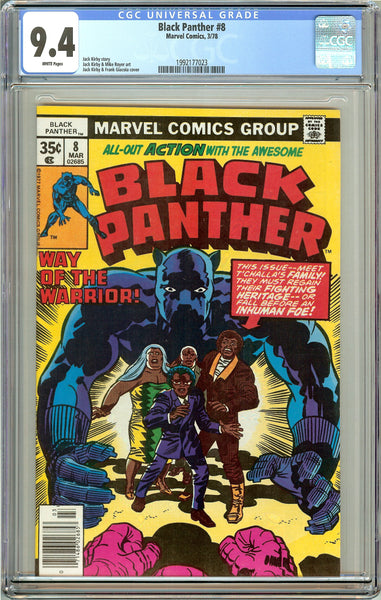 Black Panther #8 CGC 9.4 White Pages (1978) 1992177023