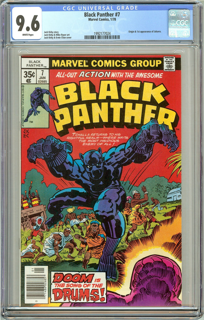 Black Panther #7 CGC 9.6 White Pages (1978) 1992177024