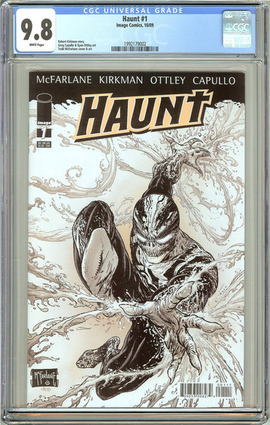 Haunt #1 CGC 9.8 White Pages (2009) 1992179002