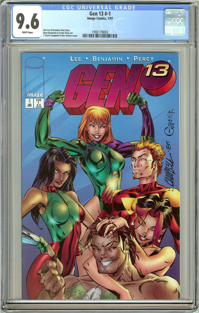 Gen 13 #-1 CGC 9.6 White Pages (1997) 1992179003