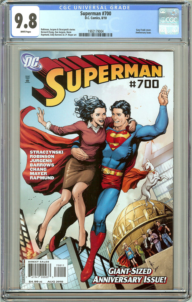 Superman #700 CGC 9.8 White Pages 1992179004