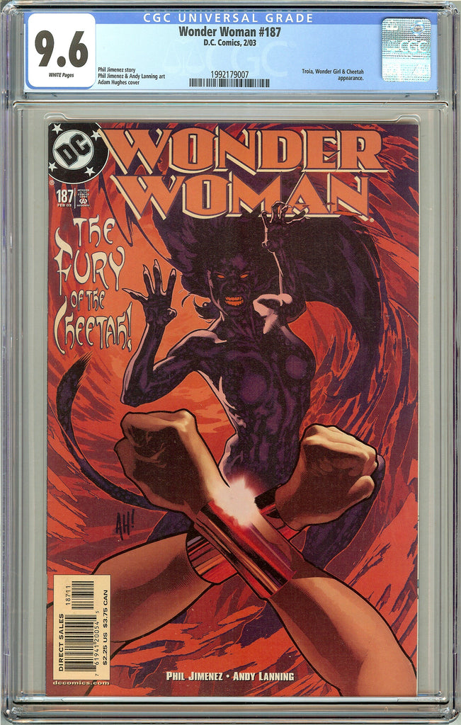 Wonder Woman #187 CGC 9.6 White Pages 1992179007 Adam Hughes cover