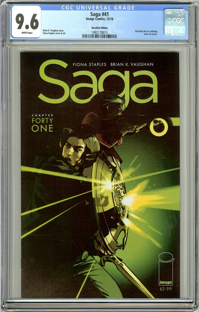 Saga #41 CGC 9.6 White Pages 1992179015 Recalled Edition