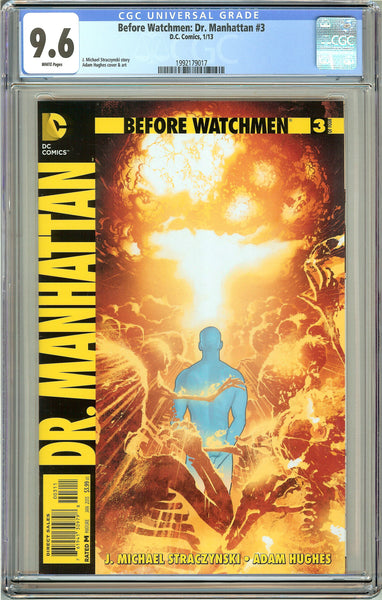 Before Watchmen Dr. Manhattan #3 CGC 9.6 White Pages 1992179017 Adam Hughes cove