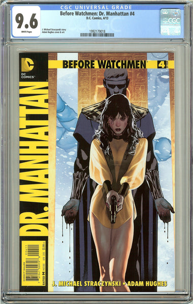 Before Watchmen Dr. Manhattan #4 CGC 9.6 White Pages 1992179018 Adam Hughes cove