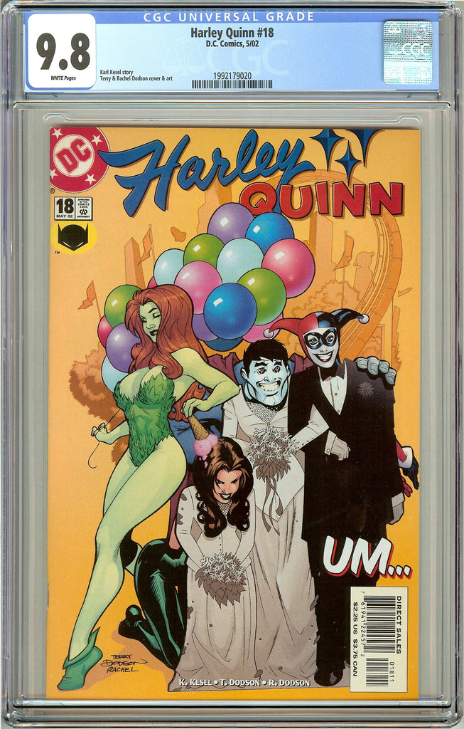 Harley Quinn #18 CGC 9.8 White Pages 1992179020 (2002)