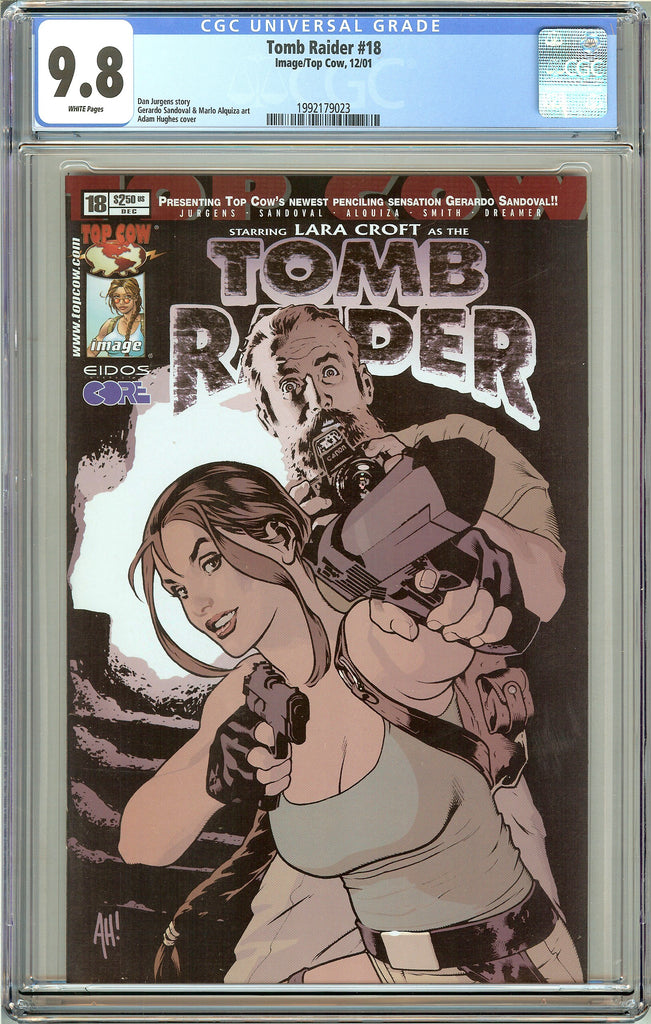 Tomb Raider #18 CGC 9.8 White Pages 1992179023 Adam Hughes cover