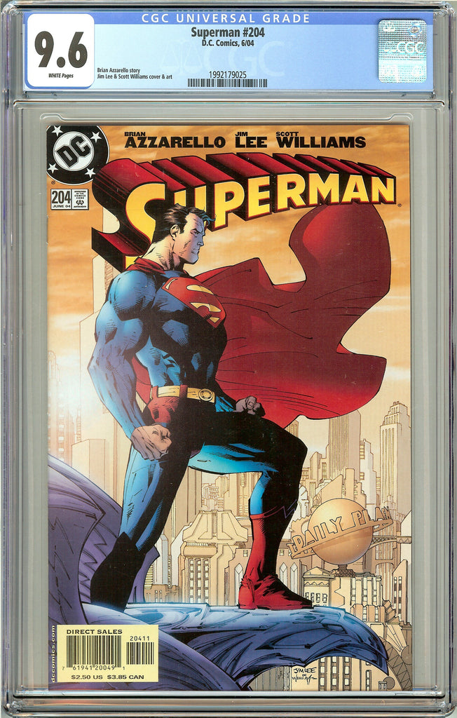 Superman #204 CGC 9.6 White Pages 1992179025