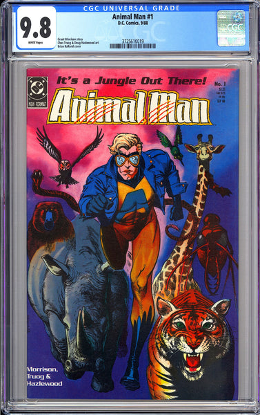 Animal Man #1 CGC 9.8 White Pages 1988 3725610019 Brian Bolland