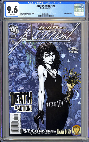 Action Comics #894 CGC 9.6 White Pages 3700176019 Death appearance