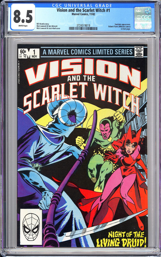Vision and The Scarlet Witch #1 CGC 8.5 WP 1982 3724519019 Robert Frank Cameo