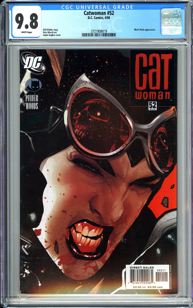Catwoman #52 CGC 9.8 White Pages 2006 3721908019 Adam Hughes Cover