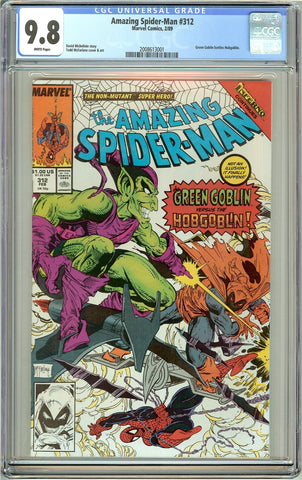 Amazing Spider-Man #312 CGC 9.8 White Pages (1989) 2008613001