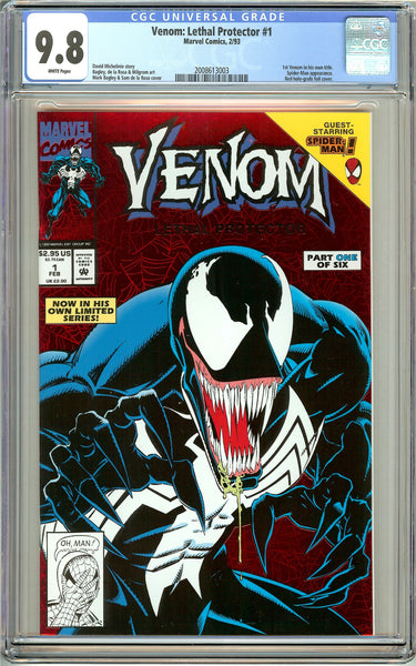 Venom Lethal Protector #1 CGC 9.8 White Pages 2008613003 Marvel Movie