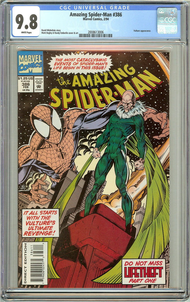 Amazing Spider-Man #386 CGC 9.8 White Pages (1994) 2008613006
