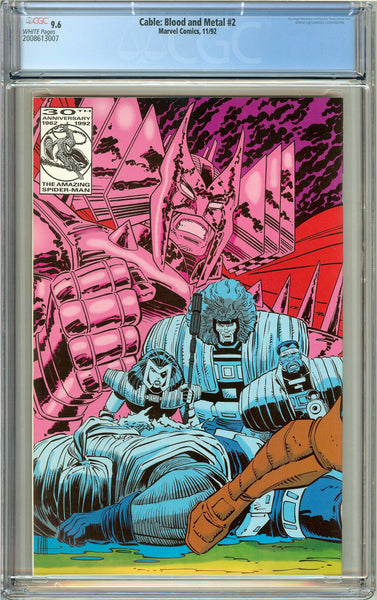 Cable Blood and Metal #2 CGC 9.6 White Pages (1992) 2008613007