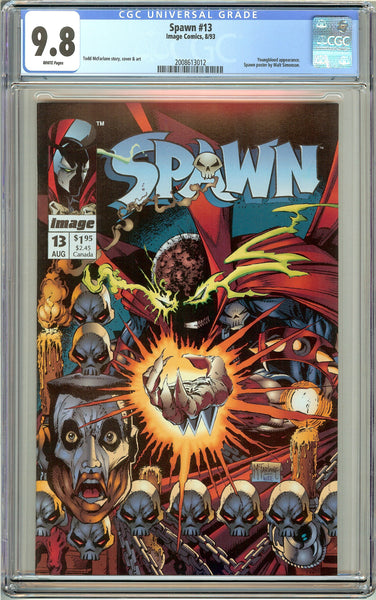 Spawn #13 CGC 9.8 White Pages (1993) 2008613012