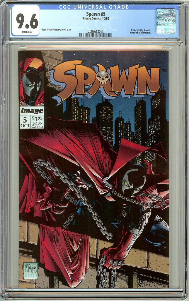 Spawn #5 CGC 9.6 White Pages (1992) 2008613013