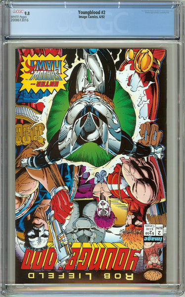 Youngblood #2 CGC 9.8 White Pages (1992) 2008613016