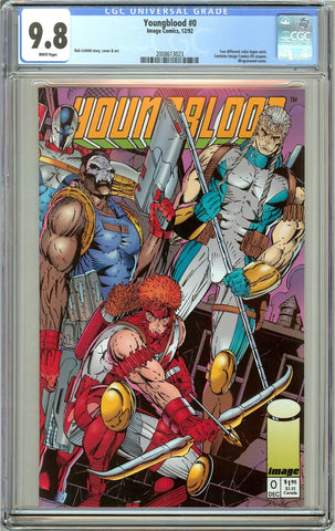 Youngblood #0 CGC 9.8 White Pages (1992) 2008613023
