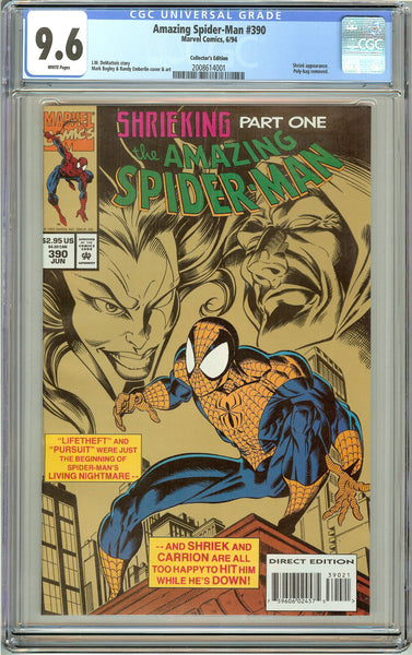 Amazing Spider-Man #390 CGC 9.6 White Pages (1994) 2008614001