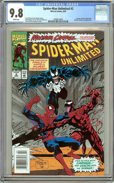 Spider-Man Unlimited #2 CGC 9.8 White Pages 2008614002