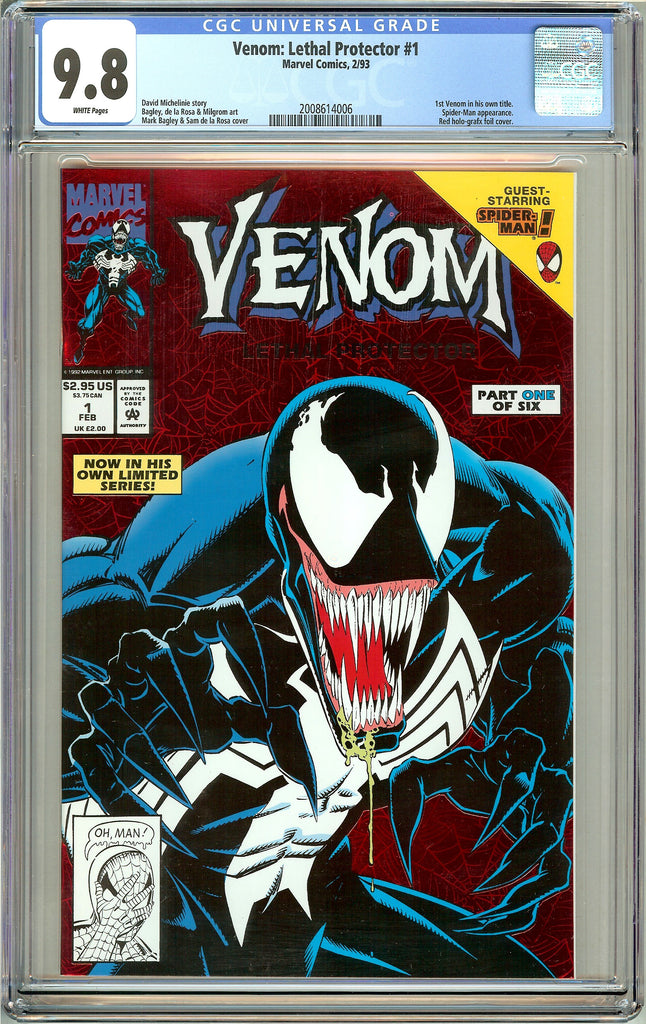Venom Lethal Protector #1 CGC 9.8 White Pages 2008614006 Marvel Movie