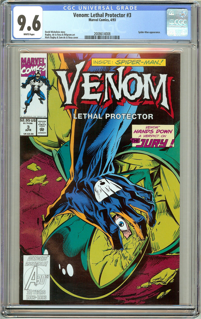Venom Lethal Protector #3 CGC 9.6 White Pages 2008614008 Marvel Movie
