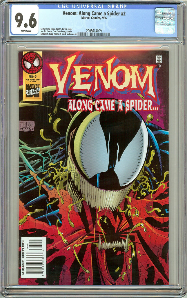 Venom: Along Came a Spider #2 CGC 9.6 White Pages (1996) 2008614009