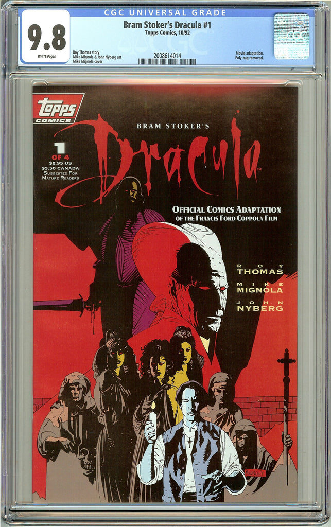 Bram Stoker's Dracula #1 CGC 9.8 White Pages Topps (1992) 2008614014