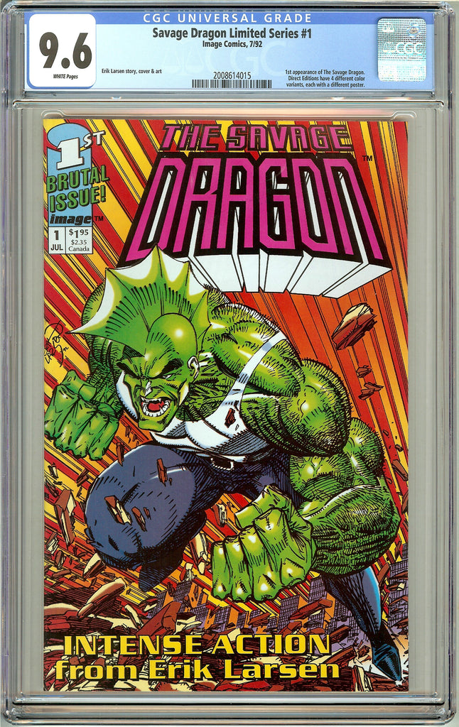 Savage Dragon  Limited Series #1 CGC 9.6 White Pages (1992) 2008614015