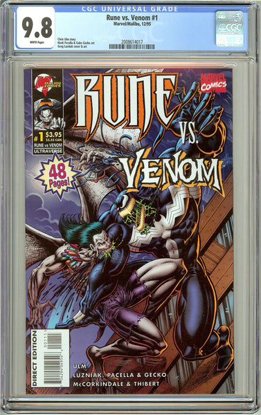 Rune vs. Venom #1 CGC 9.8 White Pages (1995) 2008614017