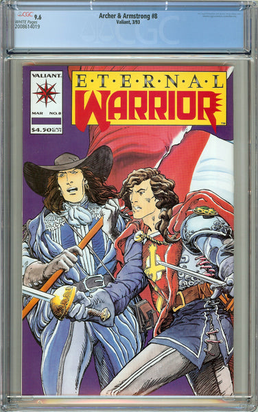 Archer & Armstrong #8 Valiant CGC 9.6 White Pages 2008614019 1st Timewalker