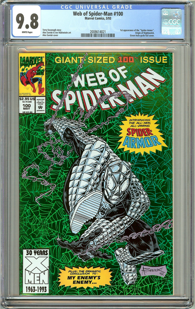 Web of Spider-Man #100 CGC 9.8 White Pages (1993) 2008614021