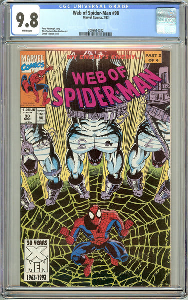 Web of Spider-Man #98 CGC 9.8 White Pages (1993) 2008614022