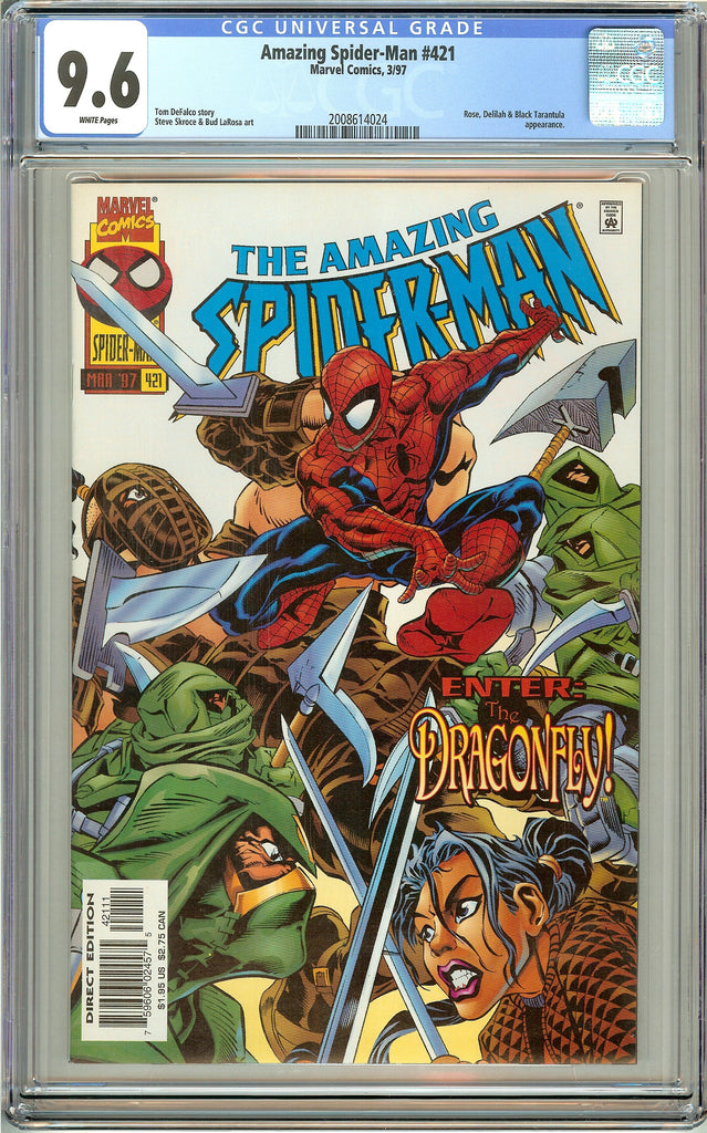 Amazing Spider-Man #421 CGC 9.6 White Pages (1997) 2008614024