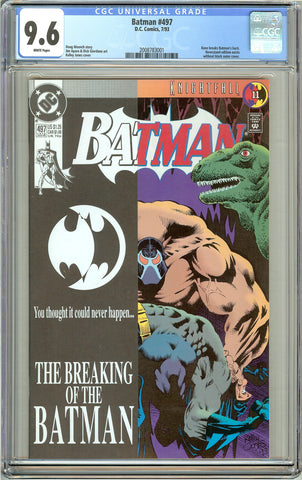 Batman # 497 CGC 9.6 White Pages (1993) 2008783001