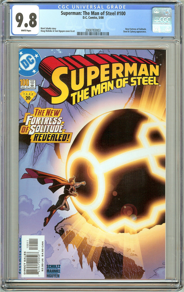 Superman The Man of Steel #100 CGC 9.8 White Pages 2008783003