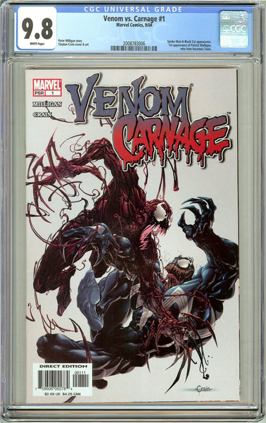 Venom vs. Carnage #1 CGC 9.8 White Pages (2004) 2008783006