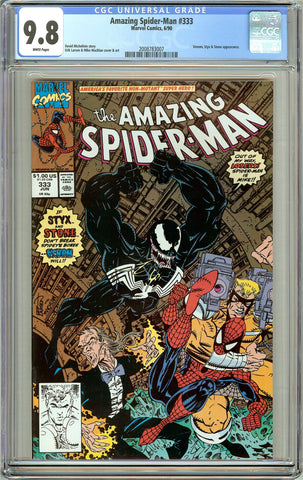 Amazing Spider-Man #333 CGC 9.8 White Pages (1990) 2008783007