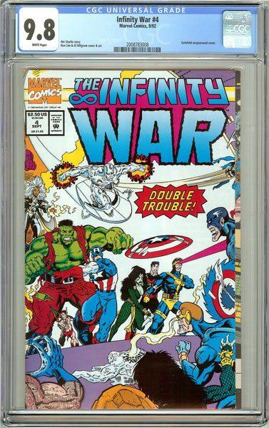 Infinity War #4 CGC 9.8 White Pages (1992) 2008783008