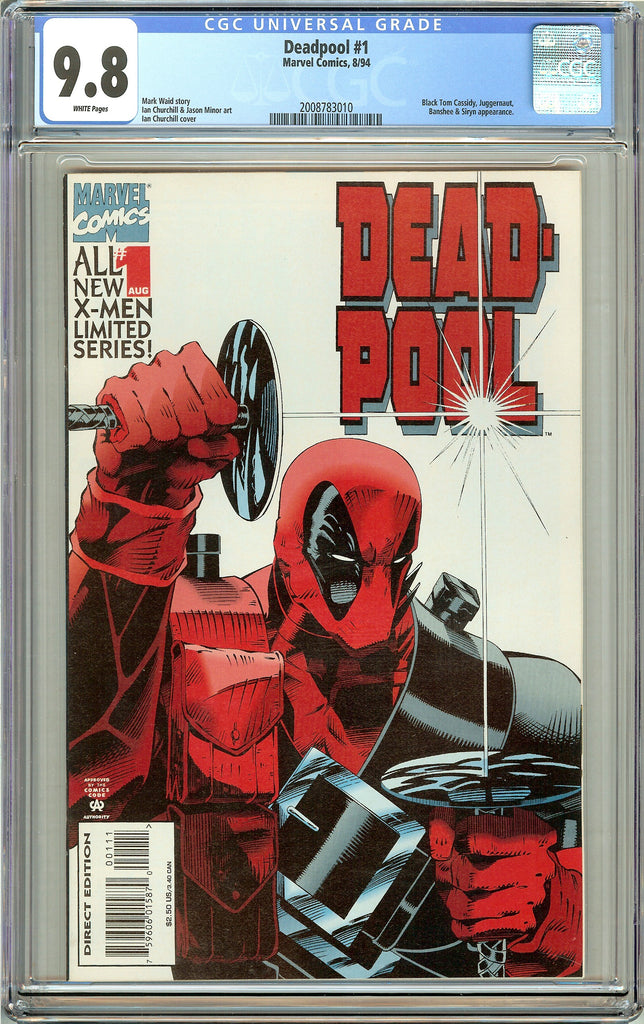 Deadpool #1 CGC 9.8 White Pages (Limited Series 1994) 2008783010