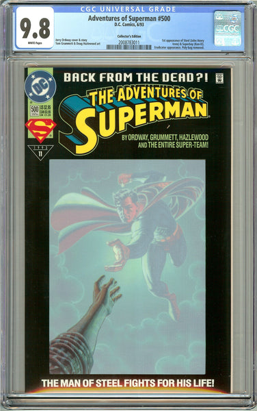 Adventures of Superman #500 CGC 9.8 White Pages 2008783011 Collector's Edition