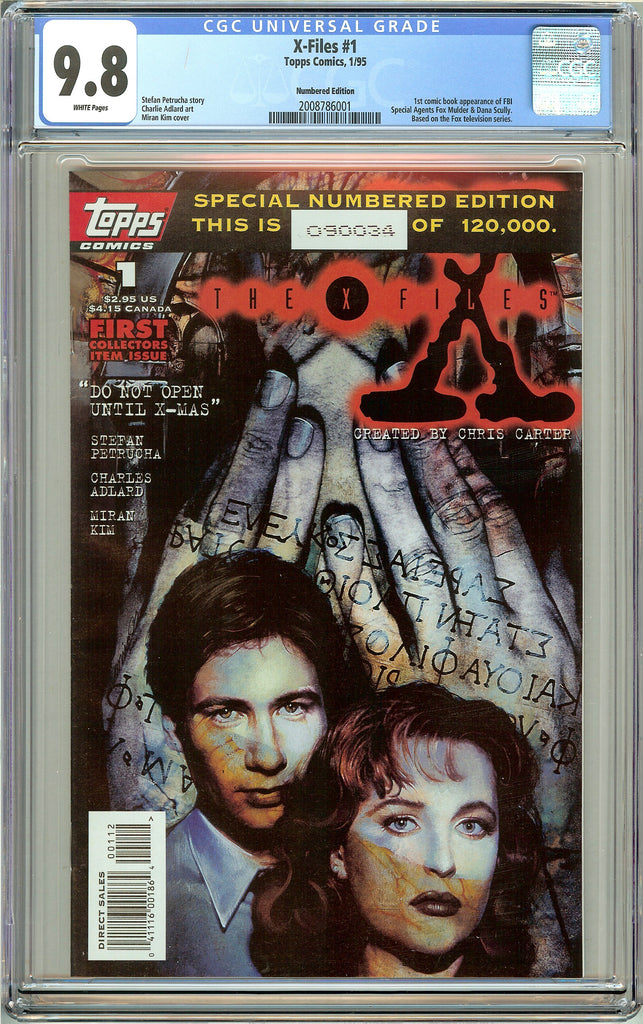 X-Files #1 (1995) CGC 9.8 White Pages 2008786001 Numbered Edition