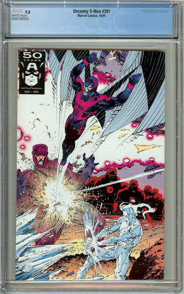 Uncanny X-Men #281 CGC 9.8 White Pages (1991) 2008786002